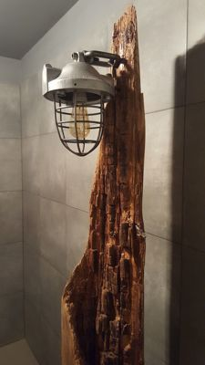 Unkown designer - Lamp in rustic style