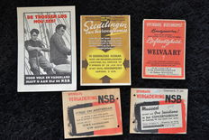 NSB, pamphlets of meetings 1940-1945