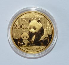 "China – 200 Yuan 2012 ""Panda"" – ½ oz of gold"