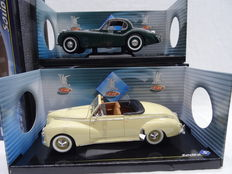 Solido - Scale 1/18 - Peugeot 203 Convertible 1954 & Jaguar XK 120 1949