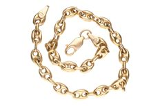 Yellow gold coffee link bracelet of 14 kt