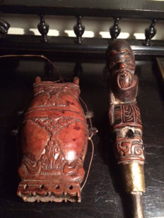 Wooden tobacco box and chisel – Bali – Indonesia