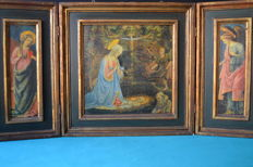 Large religious triptych - Russia - c.a 1920