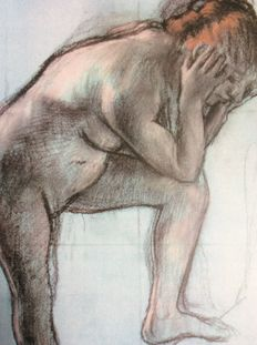 Edgar Degas (after)-Nude