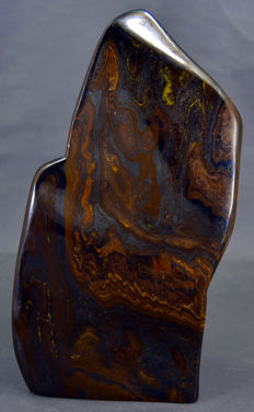 Finely polished, multi-coloured Tiger' Eye - 205 x 105 x 60mm - 1796gm