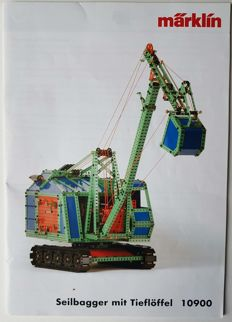 Märklin Metall, Germany 10900- a scale model of a cable excavator with bucket 10900, unique series 2004