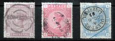 Great Britain Queen Victoria 1883/84 - 2/6, 5s and 10s