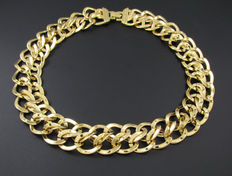 Signed Monet – Statement Double Chain Necklace