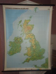 Three roll up school posters: France, Federal Republic of Germany and the United Kingdom