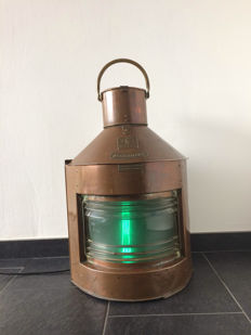 Gigantic starboard light-Seahorse-starboard-copper-more than 7 kg