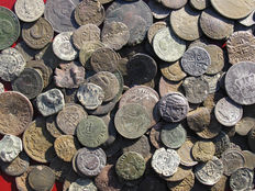 Spain - Excellent lot of 200 ROMAN, MEDIEVAL, COLONIAL, MODERN ERA coins