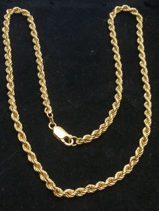 Necklace made by Italian jeweller – 18 kt gold – 16 g – 51.5 cm