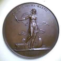 France - Medal 'Departure of Louis XVIII from Paris 1815' by Jeuffroy & Andrieu - Bronze