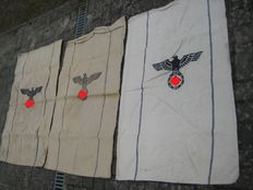 3 beautiful Army food bags of the Wehrmacht with the years 1939 and 1940 and 1941