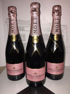 Moët & Chandon Rosé Imperial Champagne - 3 bottles