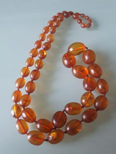Natural Baltic Pine Amber Necklace - 40 g.