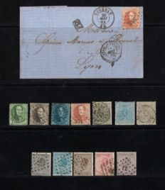 Belgium 1863/1866 – 3 complete series – OPB 13A/25A