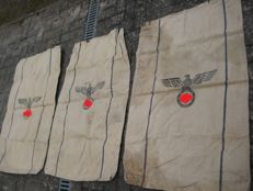 3 beautiful Army food bags of the Wehrmacht with the years 1936 and 1937 and 1938