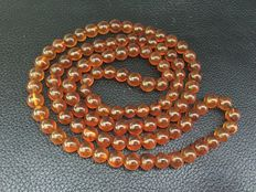 Buddhism 108 rosary prayer beads with 100% natural  amber, antique, weight: 39.33 grams