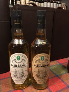 2 bottles - Glen Grant 1977 & 1978 - 5 years old