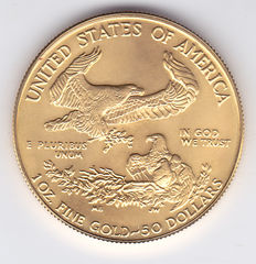 USA – 50 Dollars 1991 Liberty, 1 ounce Gold