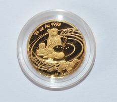 "South Africa - 20 rands 2002 ""Natura"" - ¼ oz of gold"