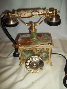 Beautiful old Italian marble telephone - mint condition