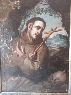 Unknown artist - San Francesco d 'Assisi - probably from the 18th century