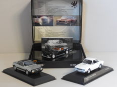 Minichamps - Scale 1/43 - Lot with 3 Italian models: 1 x Iso Grifo & 2 x Lancia
