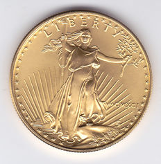 "United States - 50 Dollars 1991 ""Liberty"" 1 oz gold"