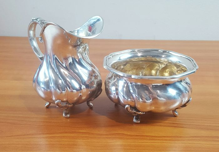 Silver cream set, 20th century