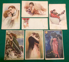 Italy, 1921. Set of 19 picture postcards, stamped and shipped