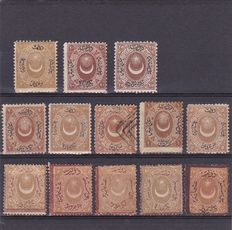 Turkey 1865/1913 - Postage due - a selection