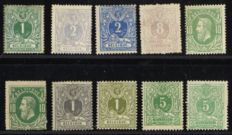 Belgium 1869/1884 – Selection with 10 classic stamps – OPB 26/45