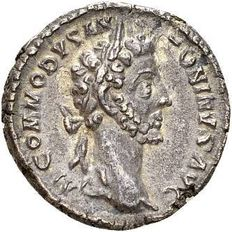 Roman Empire - Silver Denarius of Emperor Commodus, minted in Rome 181-182