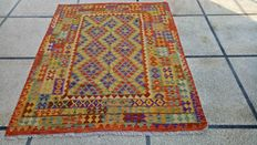 ULTRA FINE QUALITY Vegi Hand Made  Chobi Kilim Rug Double Face Design 190 x 150 cm