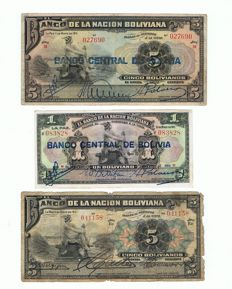 World - Bolivia/Cuba/Brasil/Venezuela/Mexico and others - 47 banknotes