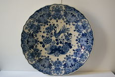 Original large Delft blue plate - ca. 1932