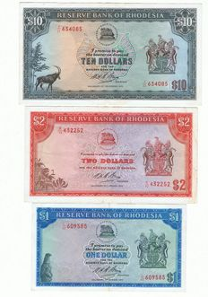 World - Rhodesia/ South Africa and Australia - 8 banknotes - better ones included
