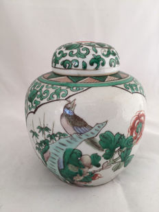 Famille Verte Ginger Jar With Cover - China - begin 20th century