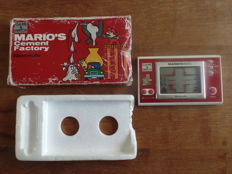 Nintendo Game & Watch - Mario's Cement Factory Boxed, with battery cover
