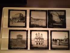 World - Glass slides 13 x - Unger & Hoffmann A.G. from Dresden