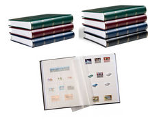 Accessories, seven Leuchtturm stockbooks with 48 white pages