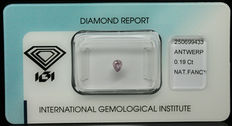 0.19 ct Natural Fancy Intense Purplish Pink Diamond – NO RESERVE