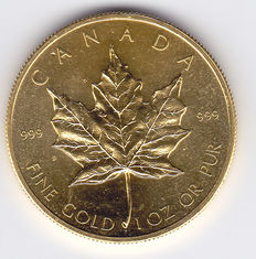 Canada – 50 dollars 1979 Maple leaf –  1 ounce Gold