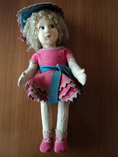 Lenci cloth doll, Italy, first half of the 20th century