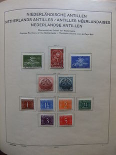 Netherlands Antilles and Suriname 1949/1985 - Collection in Schaubek folder and Lindner Falzlos album