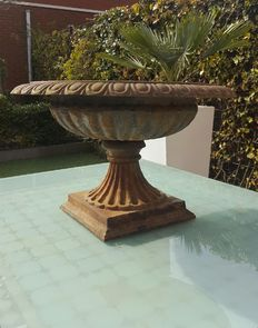 Chic and large round jardinière, Tazza model - Ø 52 cm! -