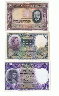 World - Spain, Italy and Greece - 56 banknotes