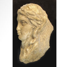 Roman Marble Head of a Lady - 10.2 cm H